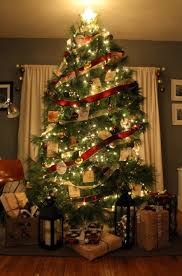 Elegant Christmas Tree Decorating Themes by Interior Cheerful Design With Tall Christmas Tree With Red And