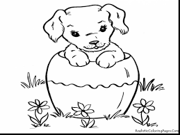 beautiful realistic dog coloring pages with puppies coloring pages