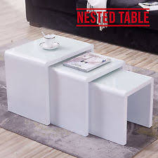 White Glass Coffee Table Glass Coffee Tables Ebay