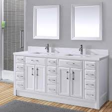 Bathroom Double Sink Cabinets by Calais 75