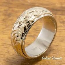Hawaiian Wedding Rings by Hawaiian Wedding Rings Hawaiian Plumeria Flower Eternity Wedding