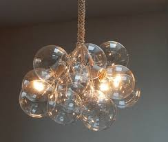 Chandelier Glass Globes Bubble Chandelier Diy Above The Cluster Pendant Features Four