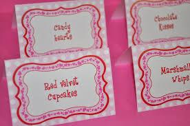 Birthday Decorations For Girls 12 Girls 1st Birthday Food Label Tent Cards Valentine U0027s Day