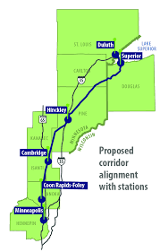 northern lights location map northern lights express proposed passenger rail service receives