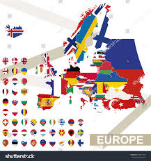 Europe Flag Map by Europe Map Flags Europe Map Colored Stock Vector 336077204