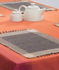 fab india brown and beige contemporary cotton table mats buy fab