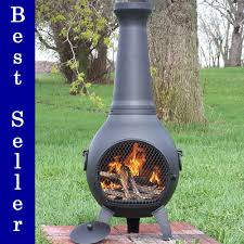 Cast Iron Outdoor Fireplace by Prairie Chimenea Cast Aluminum Outdoor Fireplace Blue Rooster