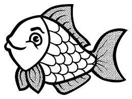 clipart fish lineart