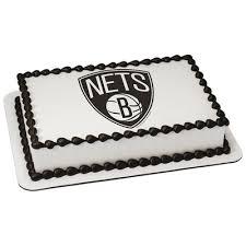 basketball cake topper nba nets cake topper image basketball