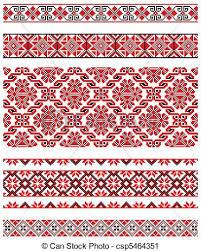 ukrainian ornaments vector illustrations of ukrainian embroidery ornaments vector
