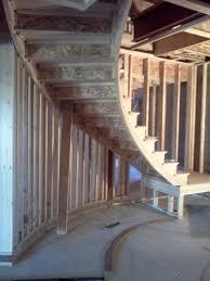 staircase construction impressive home design