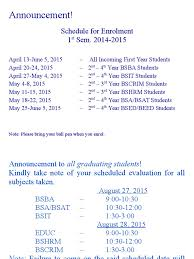 announcement enrolment schools academia