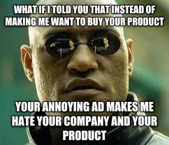 Meme Websites - to the companies running video ads on websites meme guy