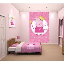 peppa pig bedrooms details about peppa pig foam elements wall peppa pig princess wallpaper wall mural x by walltastic