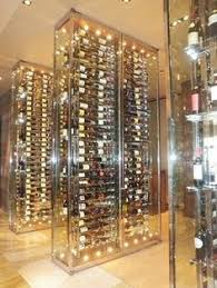 Wine Cellar Wall - all glass wine cellar modern wine cellar vancouver blue