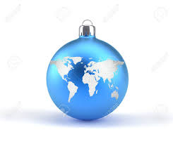 ornaments with world map 3d render illustration stock