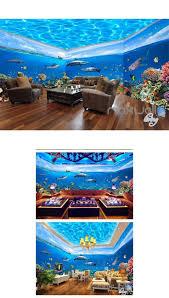 16 best 3d bathroom decor images on pinterest 3d wallpaper fish tank ocean park theme space entire room wallpaper wall mural decal idcqw 000012