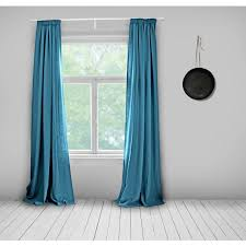 Bright Blue Curtains Linen Curtains Electric Blue Lined Bright Blue Made To