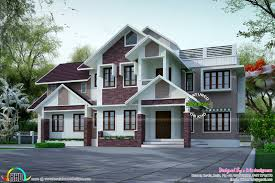 slope house plans superb slope roof house plan kerala home design and floor plans