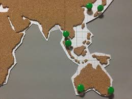Diy World Map by Diy Corkboard World Map Home U0026 Decor Singapore