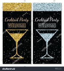 flyer cocktail party trendy glitter design stock vector 353390366