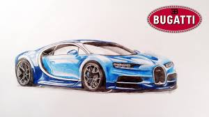 sports cars drawings how to draw bugatti chiron youtube