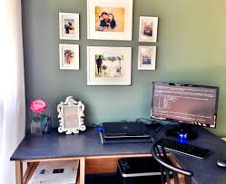 decorate your workspace sauder l shaped desk
