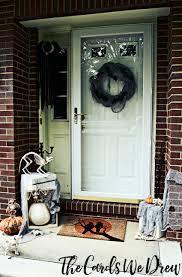 Halloween Front Door Decor Easy Halloween Front Door Decor From The Cards We Drew