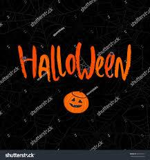 cute cartoon word halloween tiny spiders stock vector 220201012
