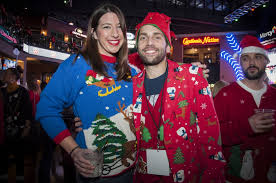 scenes from world u0027s largest ugly christmas sweater party at