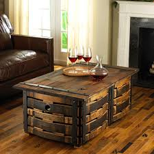 coffee tables simple cheap and easy hand crafted wine barrel