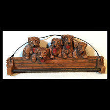 antique dog ring holder images Vintage retro stylizated faux wood cat ring towel holder jpg