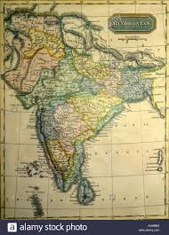Indian Map Aad71499 Old Indian Map Showing India Indian Ocean Stock Photo