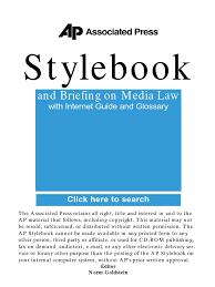 ap style book guide pdf associated press amtrak