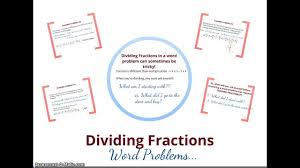 dividing fraction word problems youtube