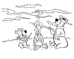 coloring pages of yogi bear yogi bear coloring pages cliptext co