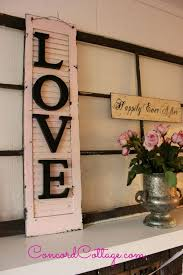 Turn an old shutter into shabby chic wall decor