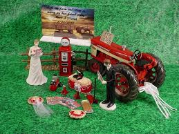 tractor wedding cake topper international harvester tractor country rustic custom