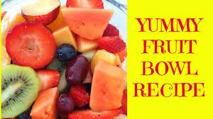 quick yummy healthy fruit bowl breakfast idea youtube