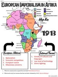 africa map answers european imperialism in africa map handout tpt