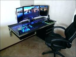 best gaming desk for 3 monitors gaming chair with monitor desk awesome computer desk designs best