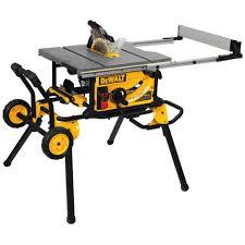 dewalt table saw folding stand dewalt 10 in job site table saw w rolling stand by dewalt at mills
