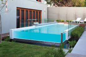 Contemporary Outdoor Sofa Melbourne Above Ground Pool Contemporary With Frameless Glass