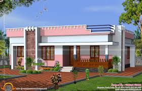 Small Flat Floor Plans by Simple Small Flat Roof Home Kerala Design Floor Plans Home