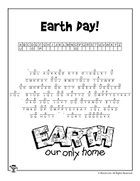 earth day cryptogram puzzle worksheet woo jr activities