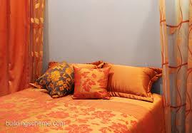 diy attractive orange bedroom decor trend in house design review
