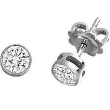 white gold diamond stud earrings diamond stud earrings in 18ct white gold with brilliant cut