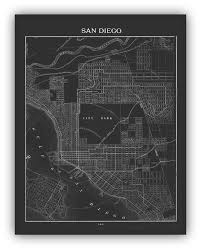 Map Of San Diego by 1900 U0027s City Lithograph Map Of San Diego