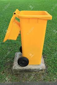furniture yellow plastic large trash cans with wheels for pretty