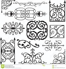 wrough iron ornaments stock vector image of floral decorative